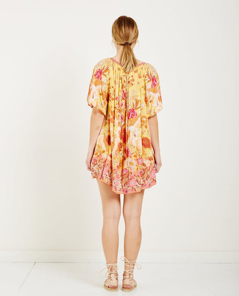 SPELL & THE GYPSY SIREN SONG SMOCK DRESS MARIGOLD
