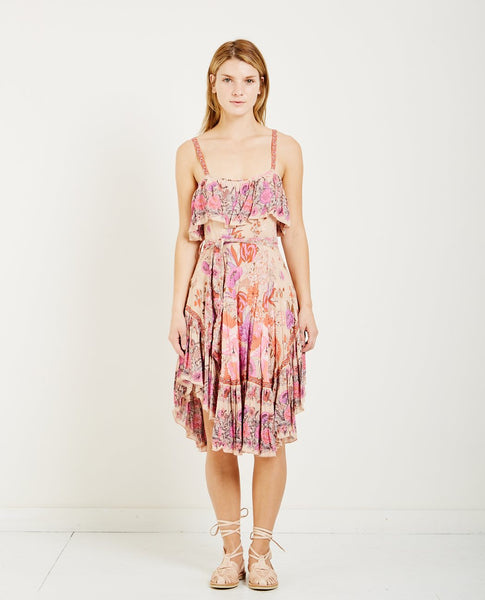 SPELL & THE GYPSY SIREN SONG STRAPPY DRESS FLAMINGO