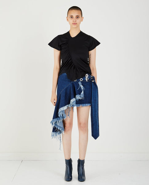 MARQUES ' ALMEIDA SKEWED GATHERED TEE