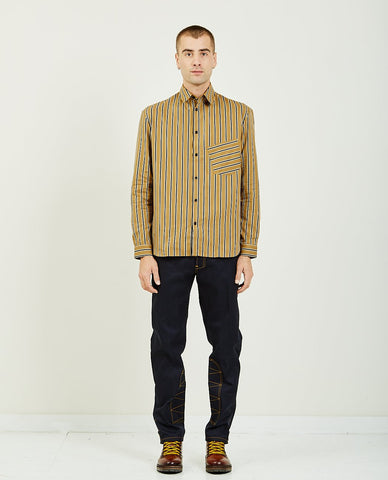 KATO THE RIPPER CAMEL VINTAGE DOUBLE GAUZE SHIRT