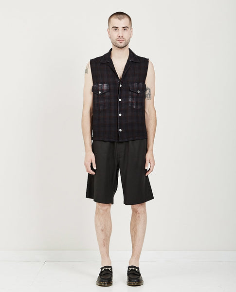 OUR LEGACY SLEEVELESS CON SHIRT NET CHECK