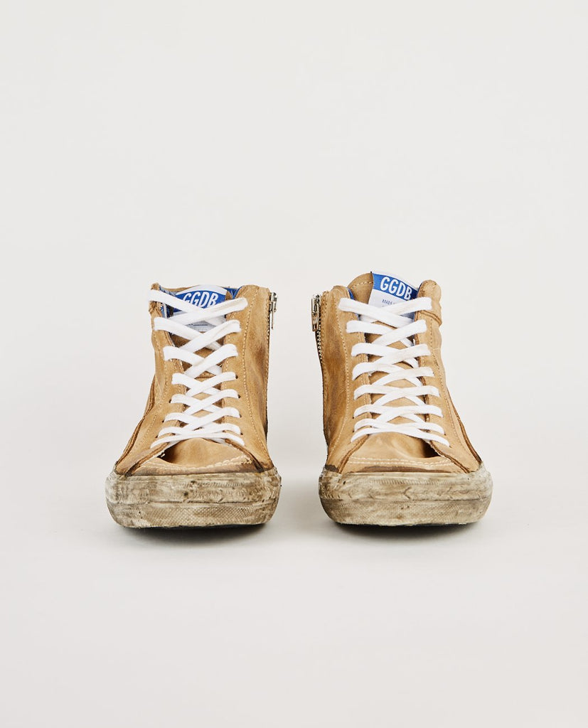 GOLDEN GOOSE DELUXE BRAND-SLIDE SNEAKER SAND & MUD-Men Sneakers + Trainers-{option1]