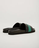 BUSCEMI-SLIDE SPORT BLACK & GREEN-Men Sandals-{option1]
