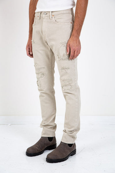 RRL SLIM FIT REPAIRED STONE