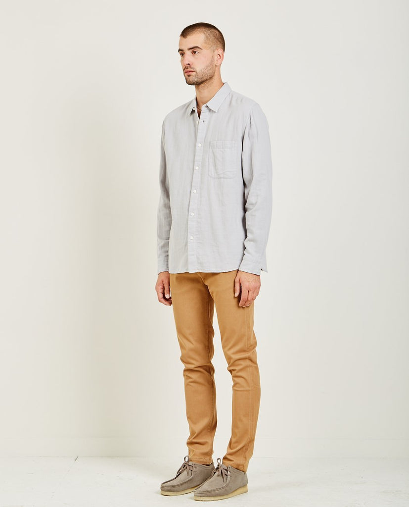 SLIM FRENCH SEAM SHIRT GREY BLUE-KATO-American Rag Cie