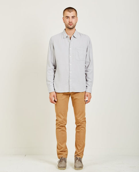 KATO SLIM FRENCH SEAM SHIRT GREY BLUE