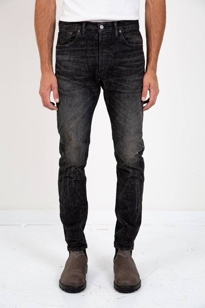 SLIM NARROW BLACK SOOT WASH-RRL-American Rag Cie
