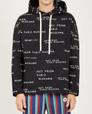 DROLE DE MONSIEUR-SLOGAN ALL OVER HOODIE-Men Sweaters + Sweatshirts-{option1]