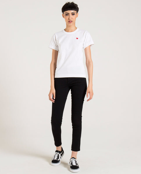 COMME DES GARÇONS PLAY SMALL RED PLAY HEART TEE