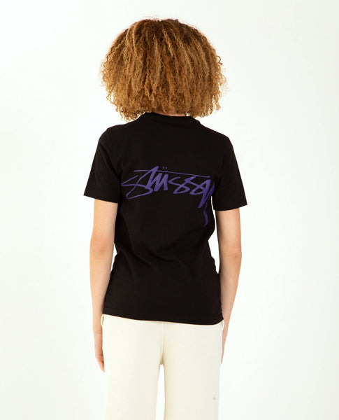STUSSY Smooth Stock Tee Black