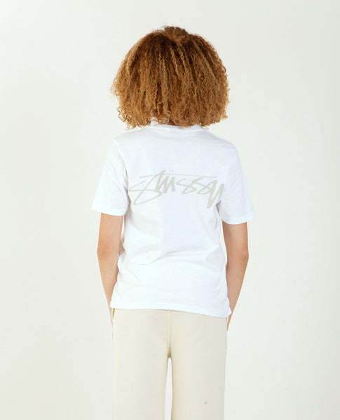 STUSSY Smooth Stock Tee White