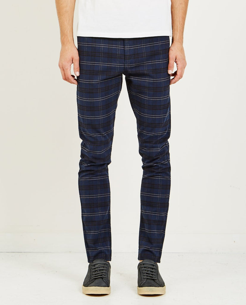 ZANEROBE-SNAPSHOT CHINO NAVY CHECK-Men Pants-{option1]