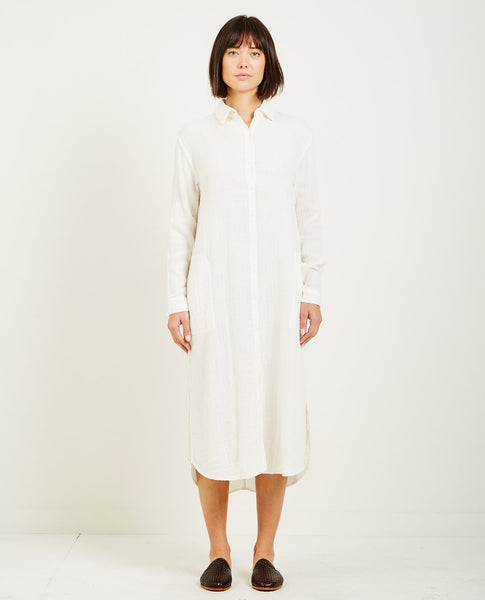 LACAUSA SOFT GAUZE SHIRTDRESS