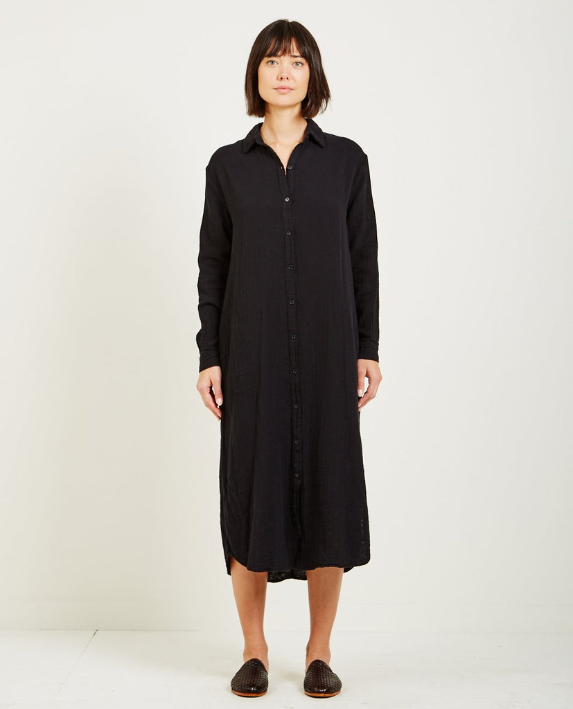 LACAUSA-SOFT GAUZE SHIRTDRESS-Dresses-{option1]