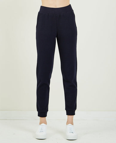 THE GREAT SIDE STRIPE CROPPED SWEATPANT