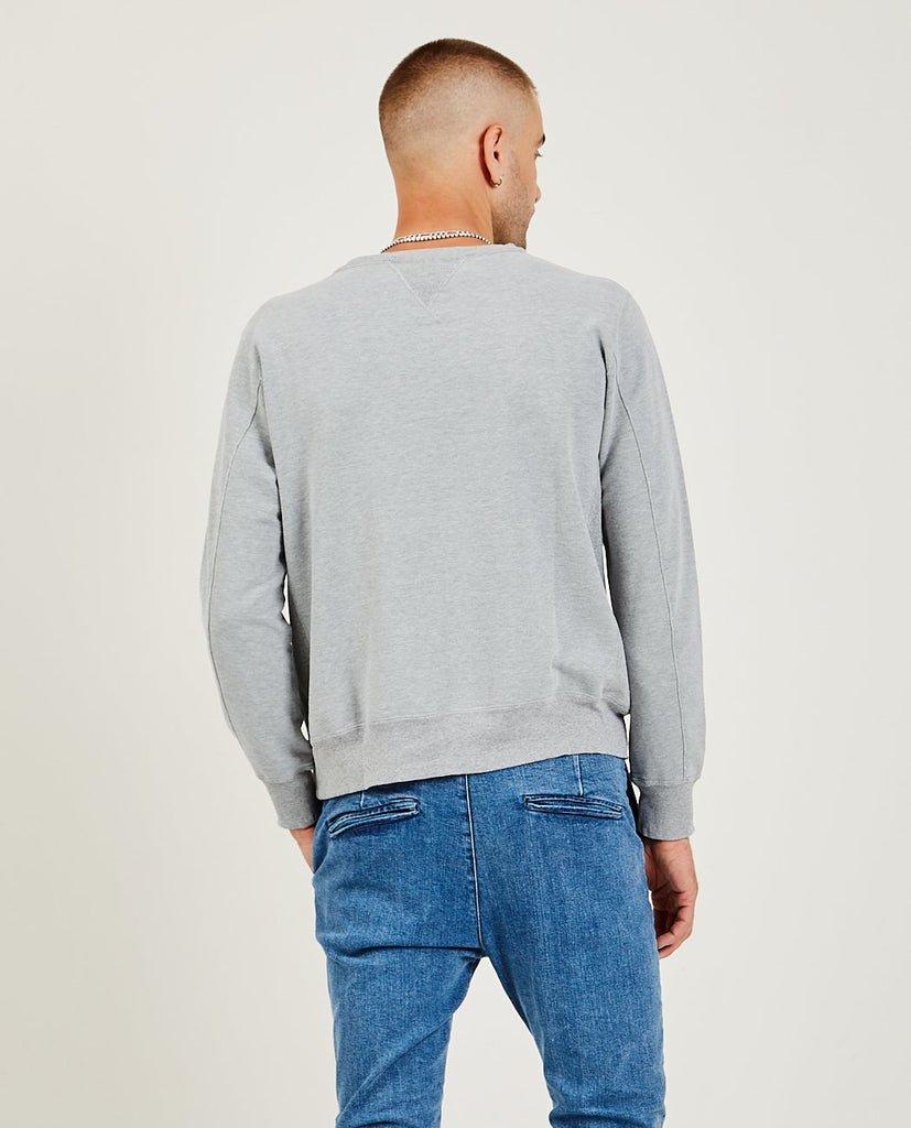 REMI RELIEF-Special Finish Fleece Crew Heather-Men Sweaters + Sweatshirts-{option1]