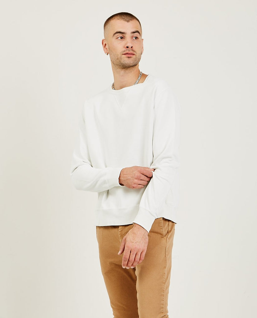 Special Finish Fleece Crew Off White-REMI RELIEF-American Rag Cie