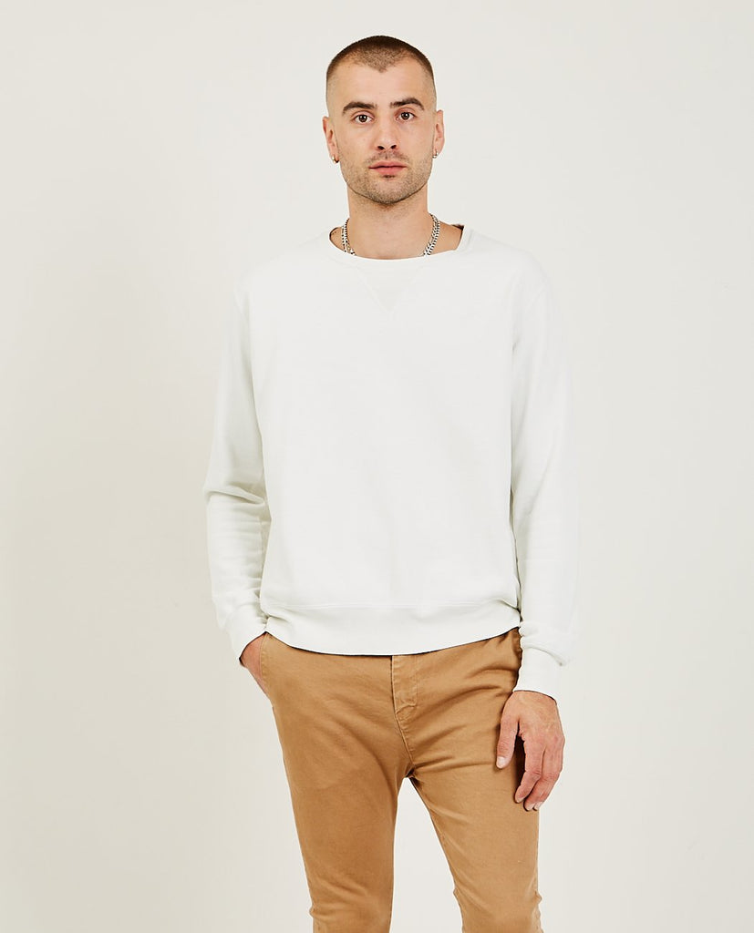 REMI RELIEF-Special Finish Fleece Crew Off White-Men Sweaters + Sweatshirts-{option1]