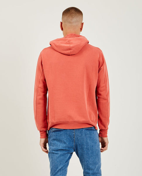 REMI RELIEF Special Finish Fleece Hoodie Orange Red