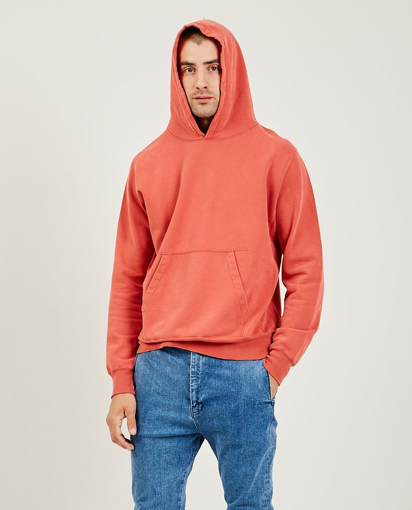 Special Finish Fleece Hoodie Orange Red-REMI RELIEF-American Rag Cie