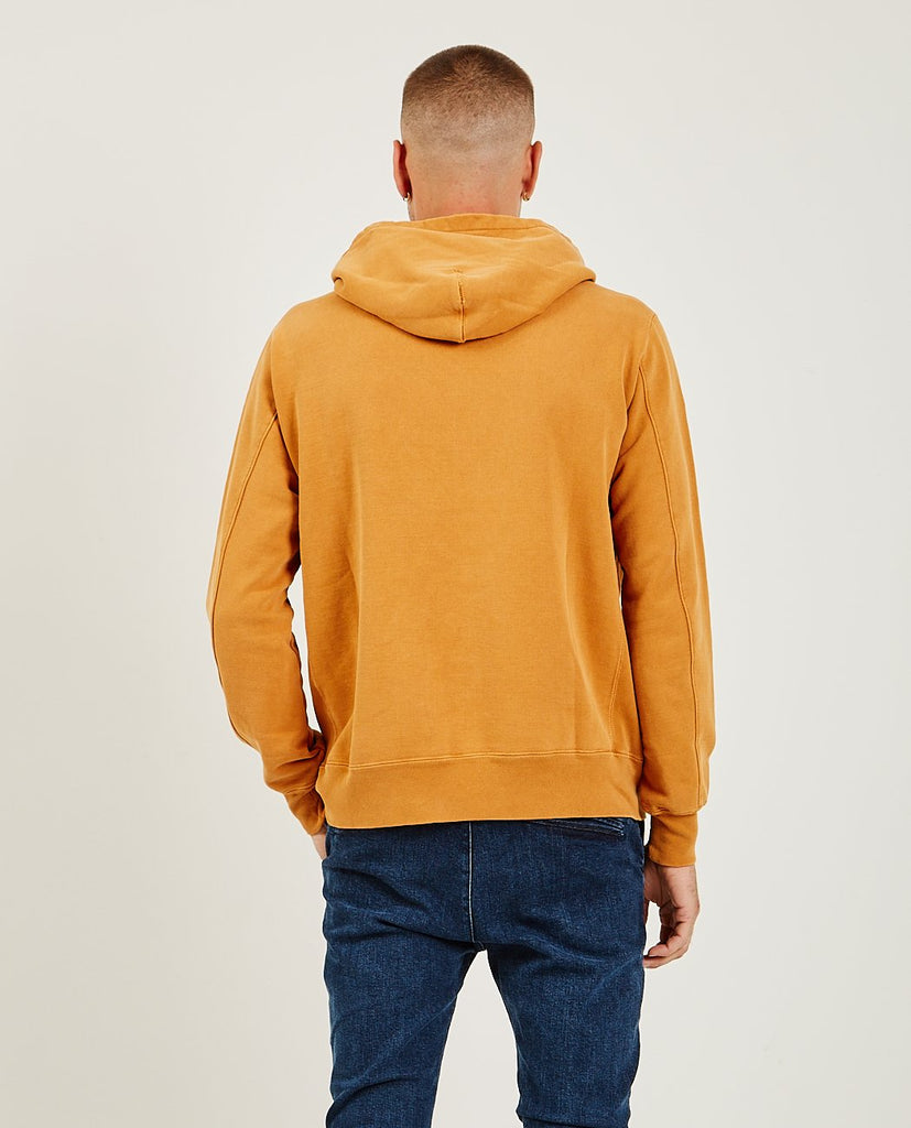 REMI RELIEF-Special Finish Fleece Hoodie Orange-Men Sweaters + Sweatshirts-{option1]