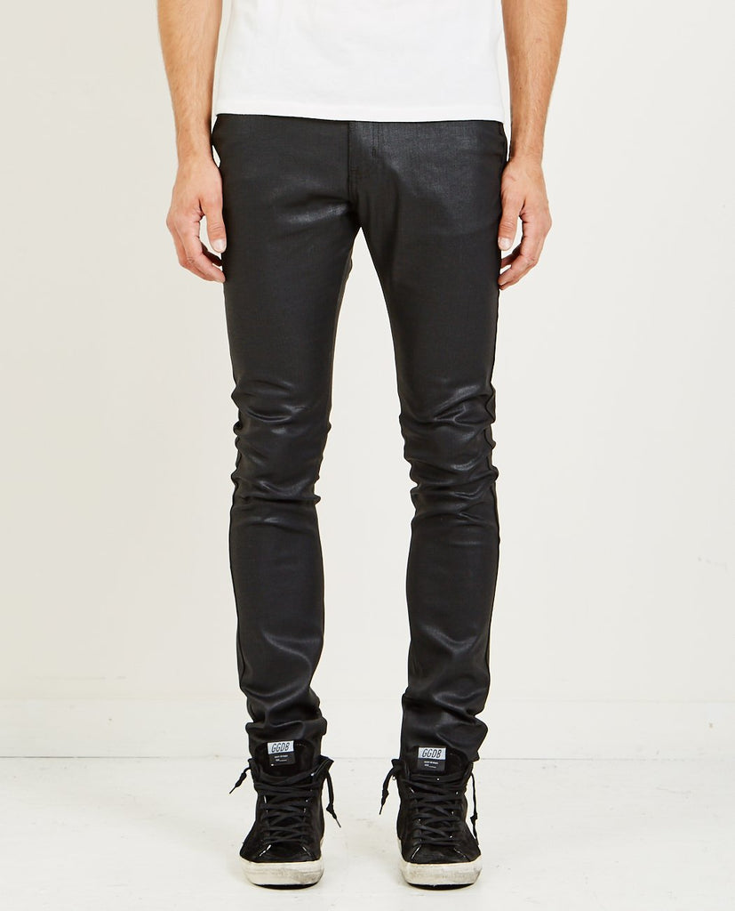 NAKED & FAMOUS-STACKED GUY BLACK WAXED STRETCH JEAN-Men Skinny-{option1]