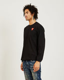 COMME DES GARÇONS PLAY-Stacked Red Heart Long Sleeve Tee-Men Tees + Tanks-{option1]