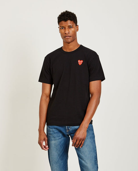 COMME DES GARÇONS PLAY Stacked Red Heart Tee
