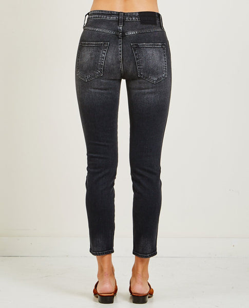 AMO DENIM STIX HIGH RISE CROP ANKLE SKINNY