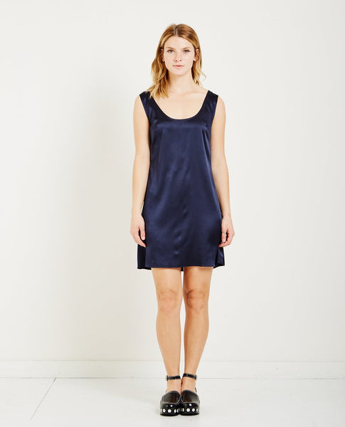 SUZANNE RAE STRETCH CHARMEUSE DRESS