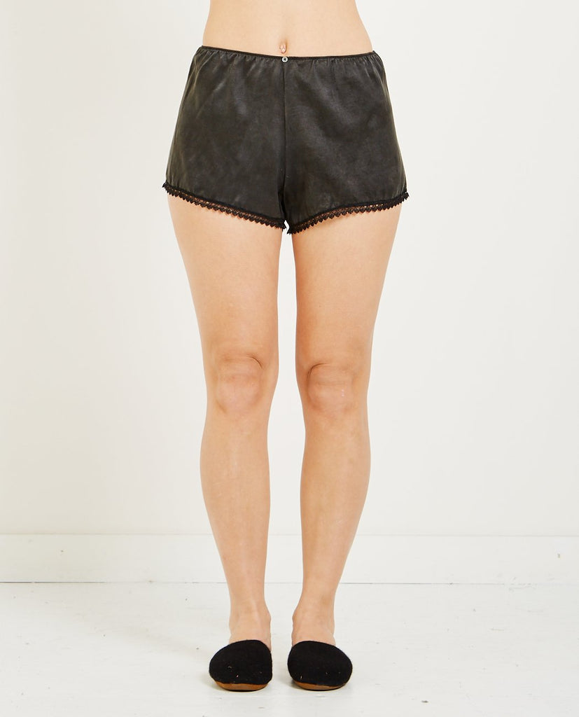 VIVIEN RAMSAY STRETCH SILK SHORTS