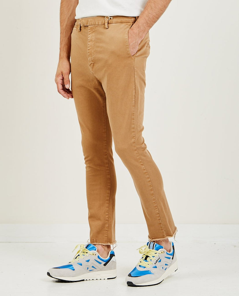 REMI RELIEF-Stretched Color Bootcut Beige-Men Pants-{option1]