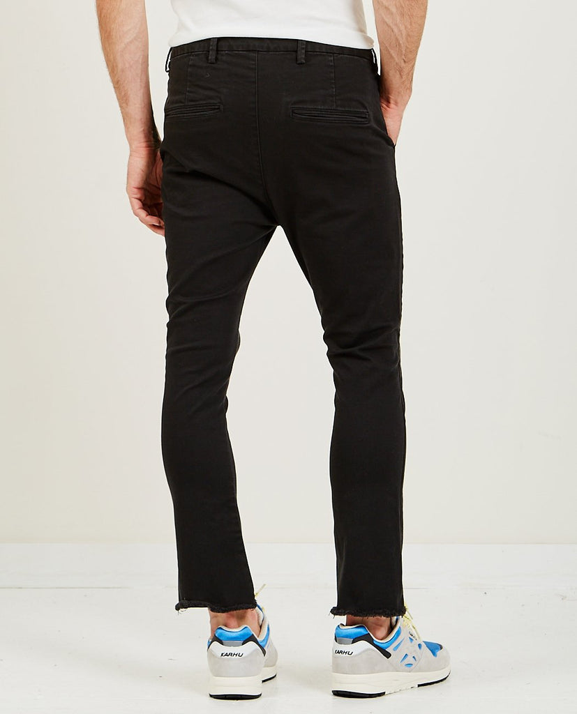 REMI RELIEF-Stretched Color Bootcut Black-Men Pants-{option1]