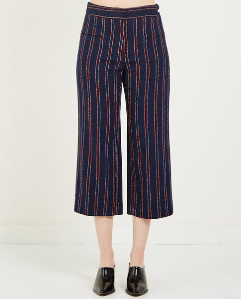 CARVEN STRIPED CROPPED TROUSER