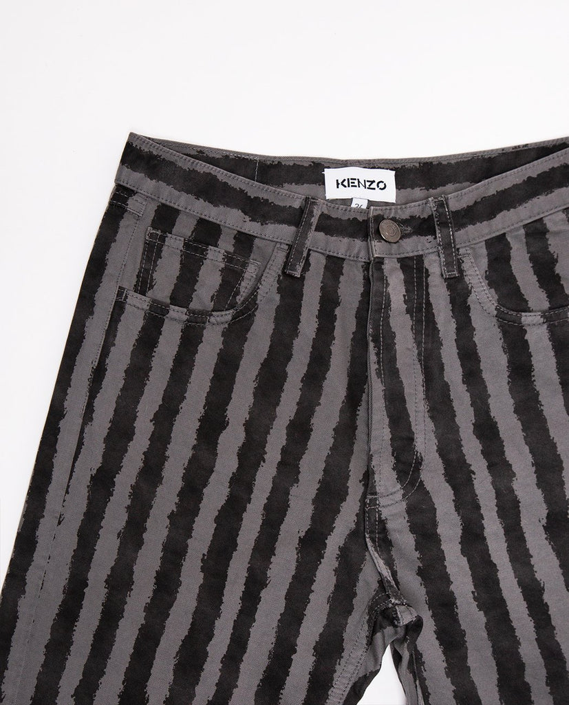KENZO-Striped Jean-Women Straight-{option1]