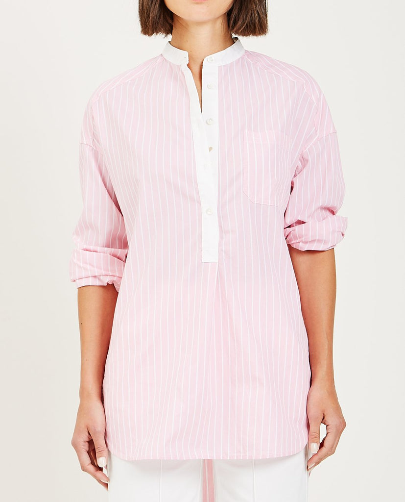 ALEX MILL-STRIPED POPOVER TUNIC-Blouses-{option1]