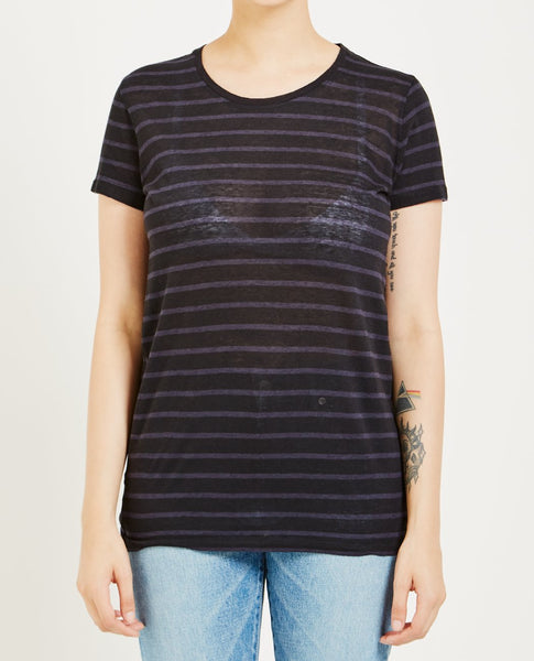 MAJESTIC FILATURES STRIPED TEE
