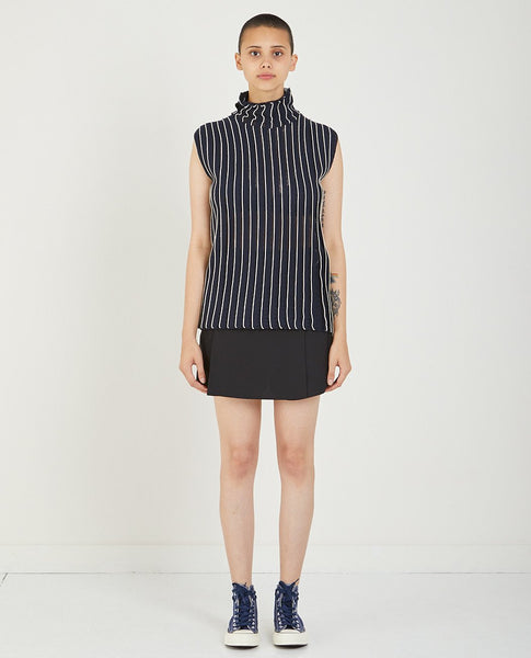 CARVEN STRIPED TURTLENECK TANK