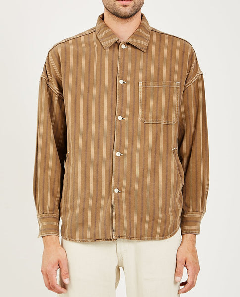 REMI RELIEF STRIPED WIDE SHIRT