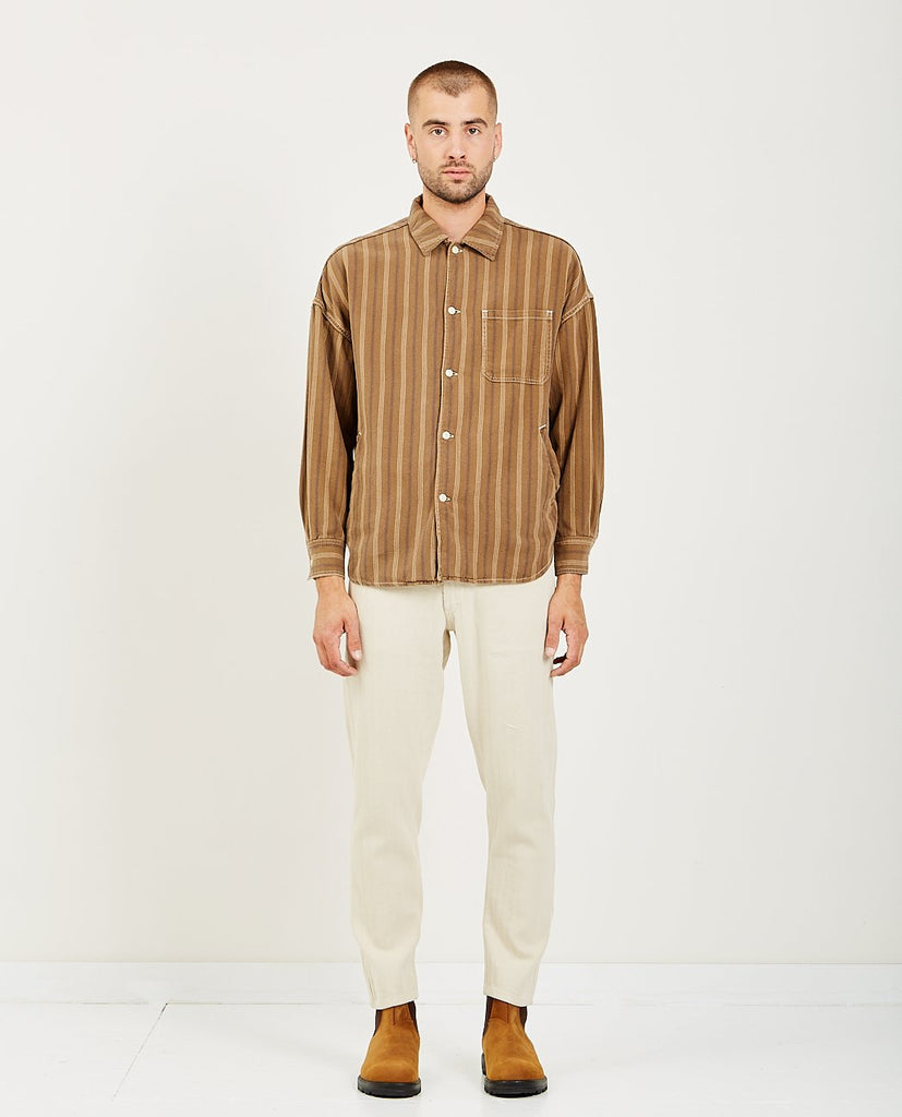 STRIPED WIDE SHIRT-REMI RELIEF-American Rag Cie