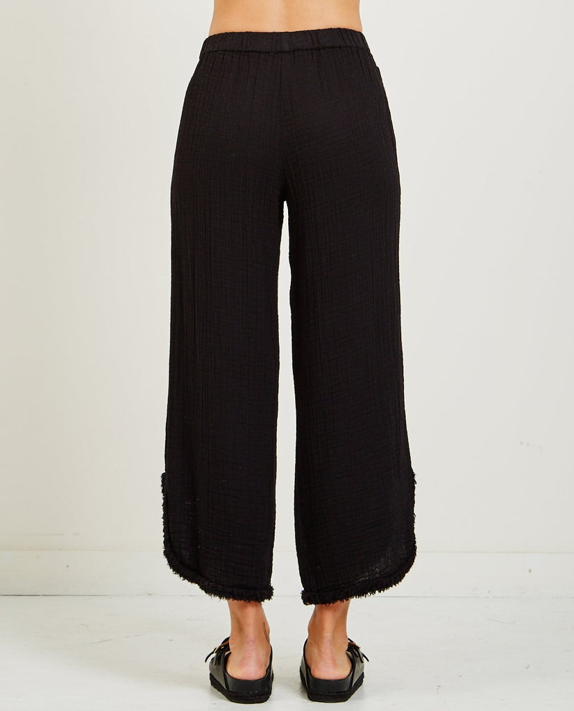 SUEDE BABY CUT OUT PANT-RAQUEL ALLEGRA-American Rag Cie