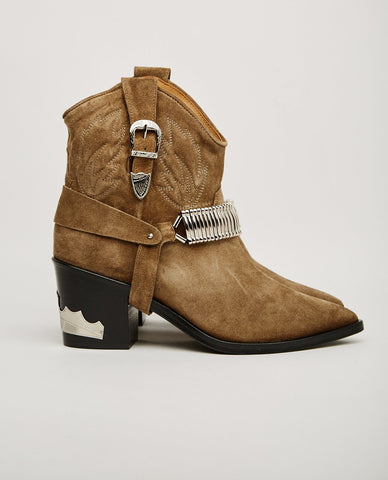 OFFICINE CREATIVE SEVERINE BOOTIE CHIFFON GUNMETAL