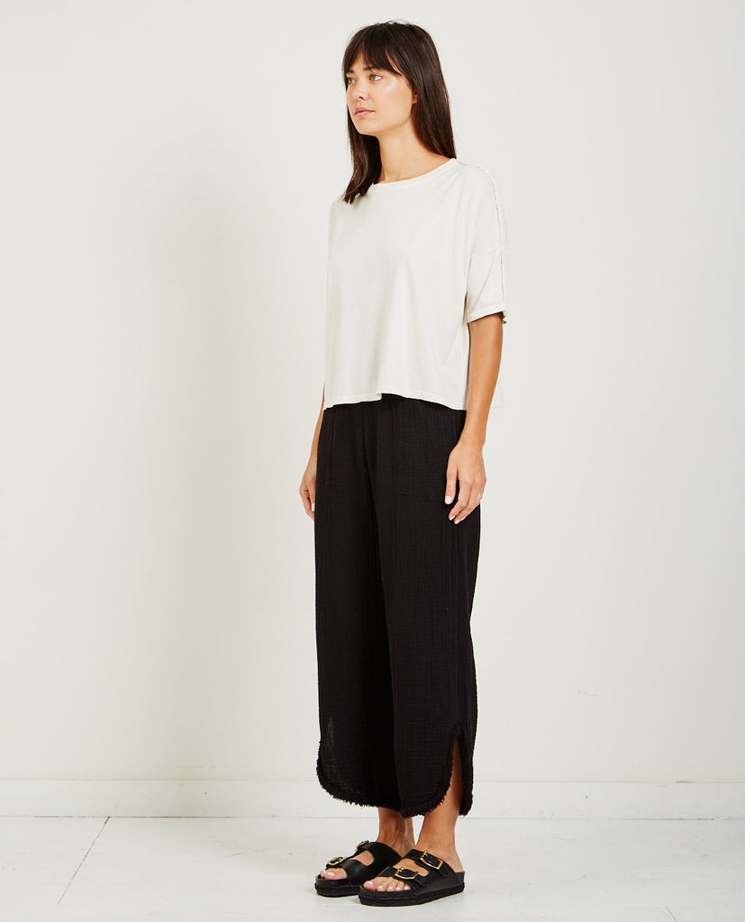RAQUEL ALLEGRA-SUEDED BABY JERSEY BOX TOP-Blouses-{option1]