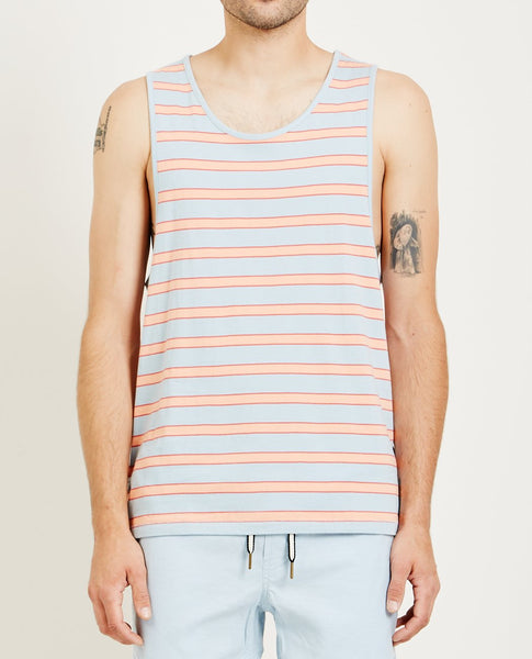 BARNEY COOLS SUMMER TANK BLUE STRIPE