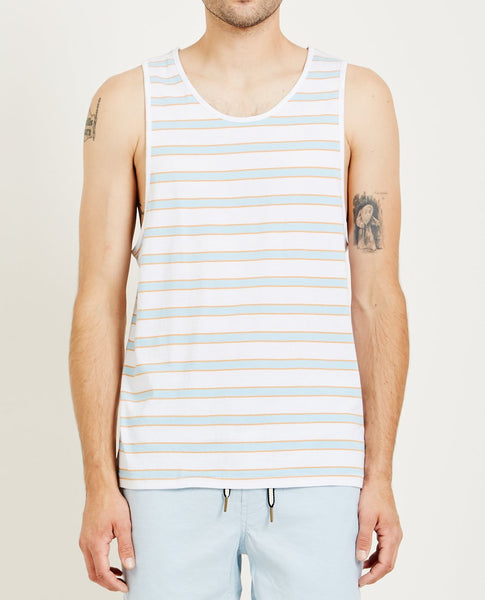 BARNEY COOLS SUMMER TANK WHITE STRIPE
