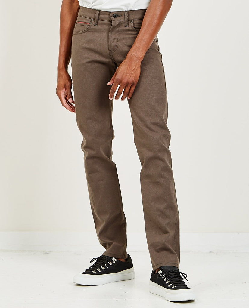 NAKED & FAMOUS-Super Guy Blackened Steel Duck-Men Skinny-{option1]