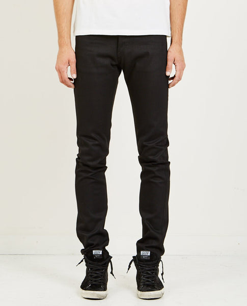 NAKED & FAMOUS Super Guy Solid Black Selvedge Jean