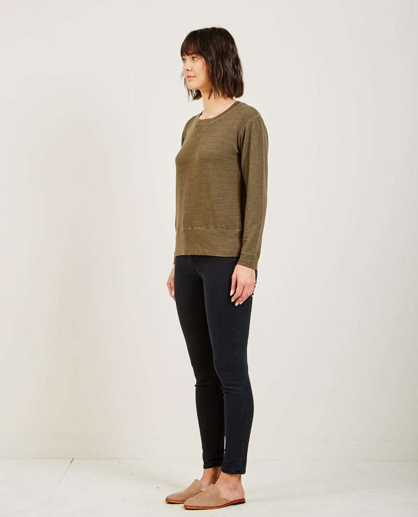 MONROW-SUPERSOFT CREW NECK SWEATSHIRT-Women Sweaters + Sweatshirts-{option1]