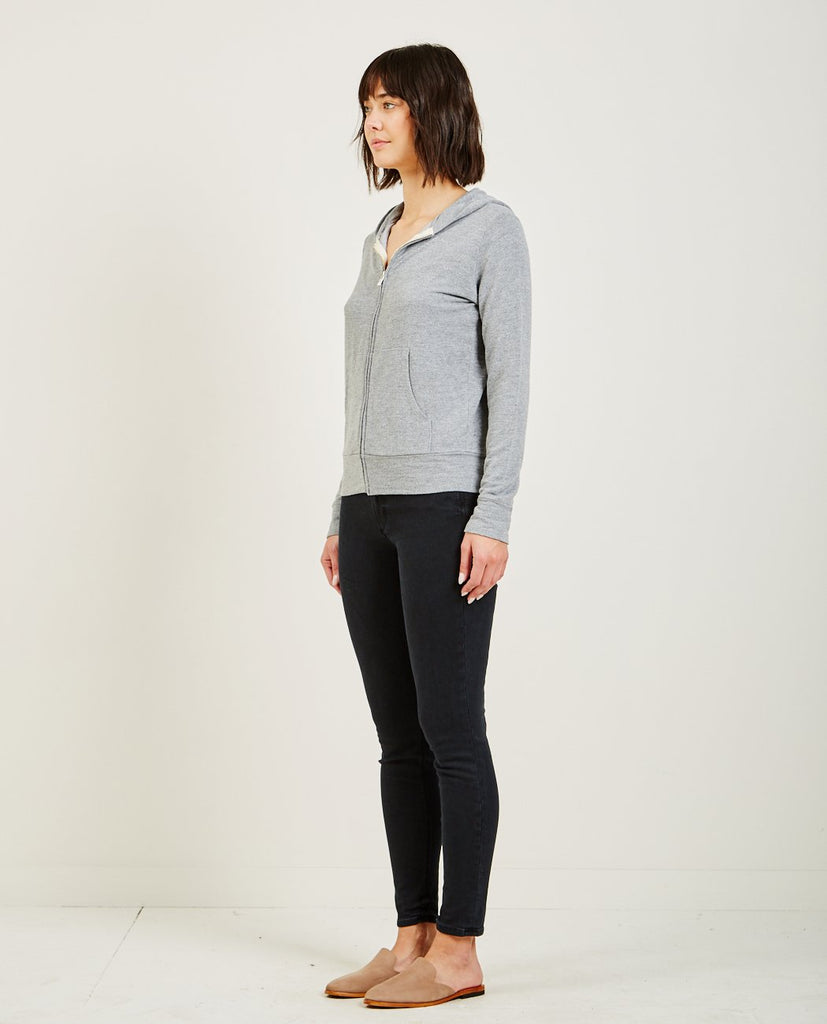 Supersoft Zip Up Hoody Dark Heather-MONROW-American Rag Cie