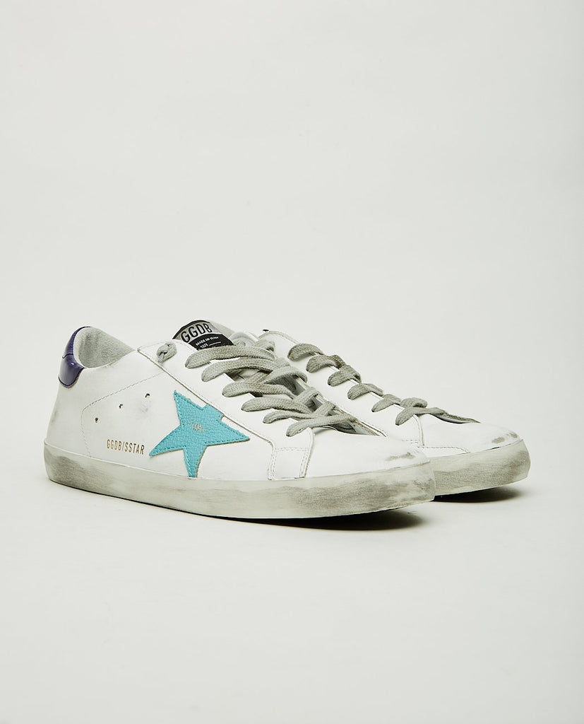 GOLDEN GOOSE-Superstar Sea Blue-Men Sneakers + Trainers-{option1]